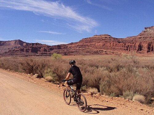 Geoff in Moab, 2011. His appetite for exploring out an open gate is still apparent.